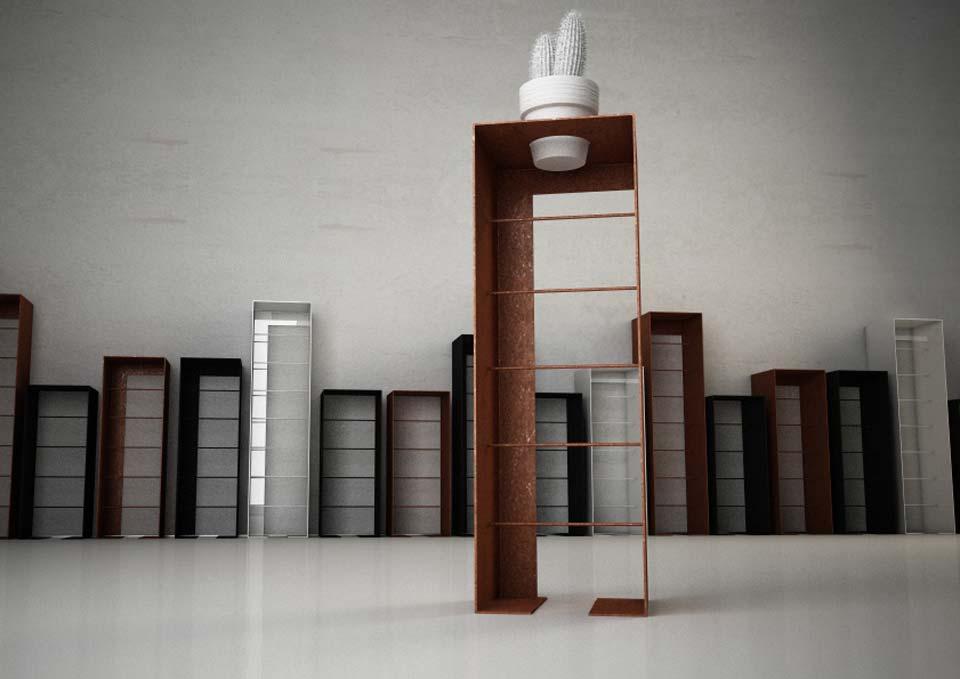 En arredi in metallo for Arredamento di design outlet
