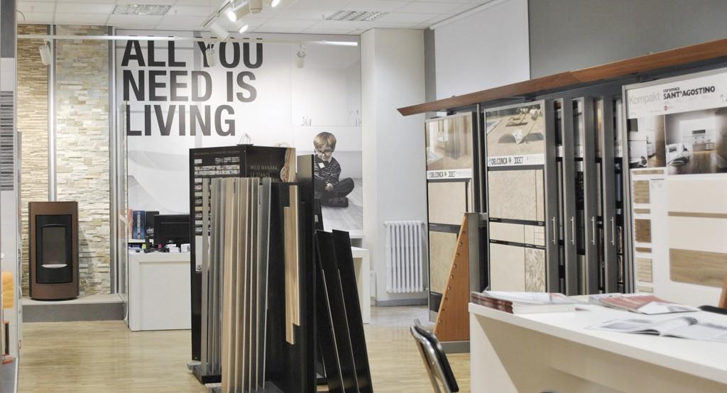 Progettazione interni - allestimento showroom arredobagno Milano ...