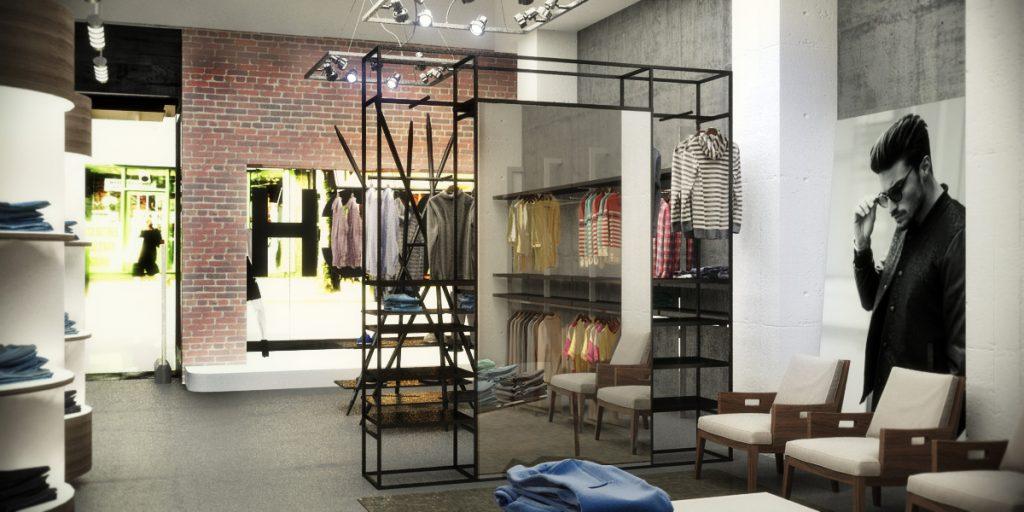 nuovo negozio dallo stile industriale
