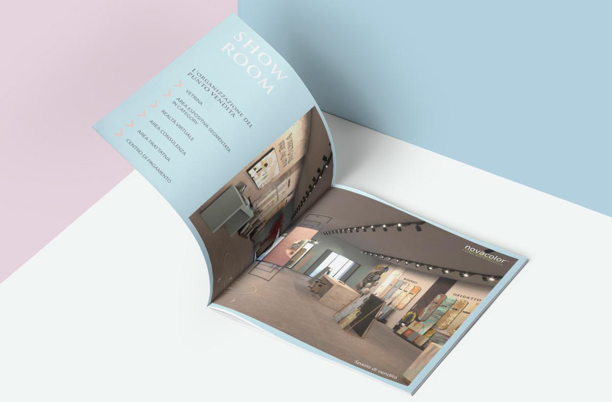 brochure per il format del punto vendita Novacolor