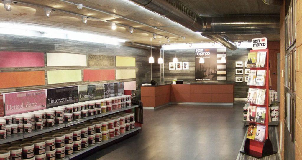 colorificio san marco allestimento interni architettura progettazione negozi allestimento negozi 01