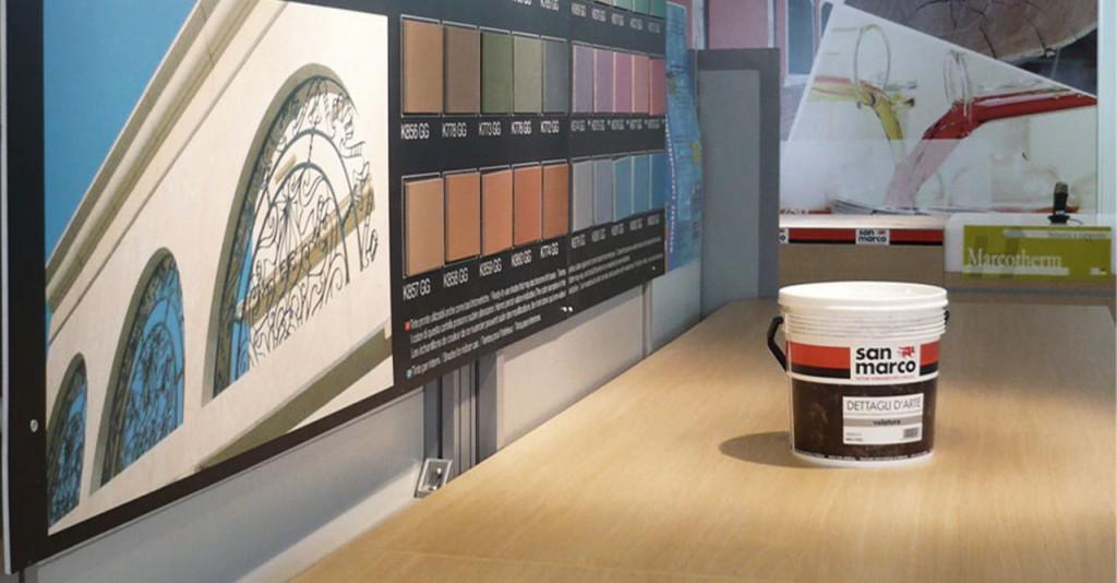 colorificio san marco showroom e training center allestimento interni architettura progettazione showroom 01