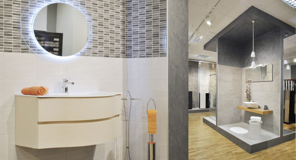 Esposizione Piastrelle Bagno Milano.Progettazione Interni Allestimento Showroom Arredobagno Milano