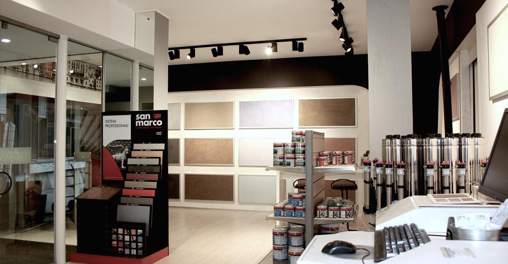 progettazione showroom colore