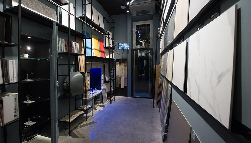 progetto showroom a milano