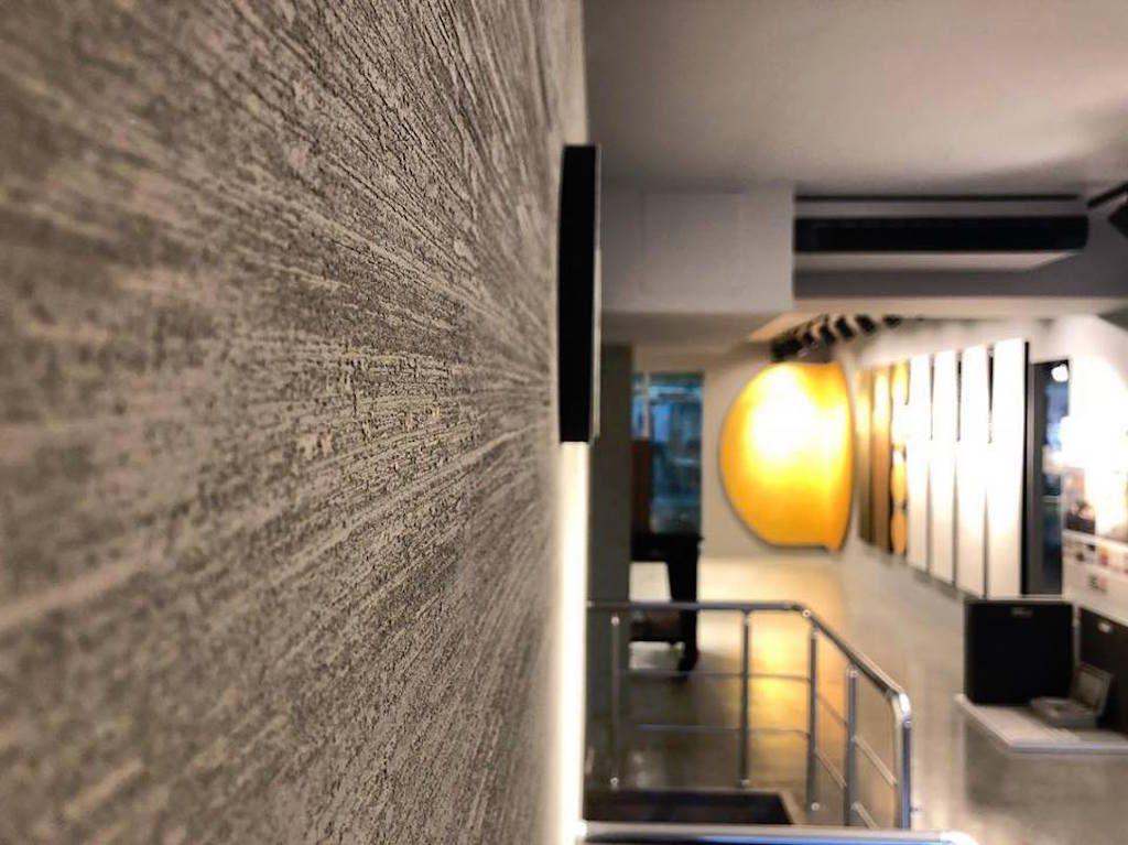 progetto showroom colore