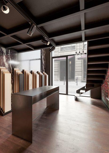 Progettazione showroom pavimenti in legno