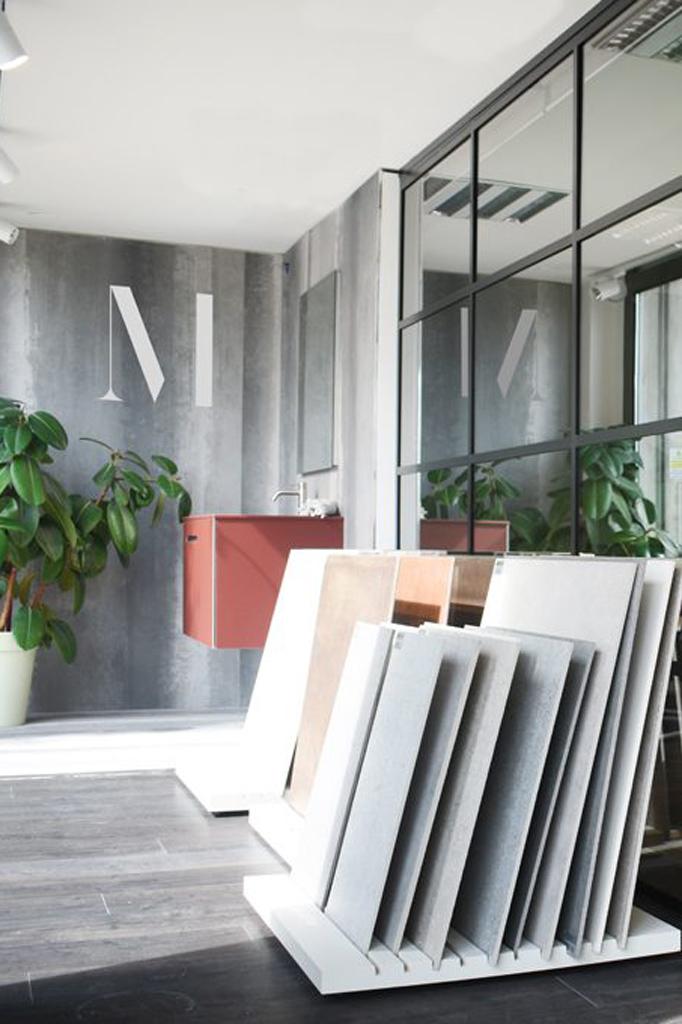progettazione showroom piastrelle