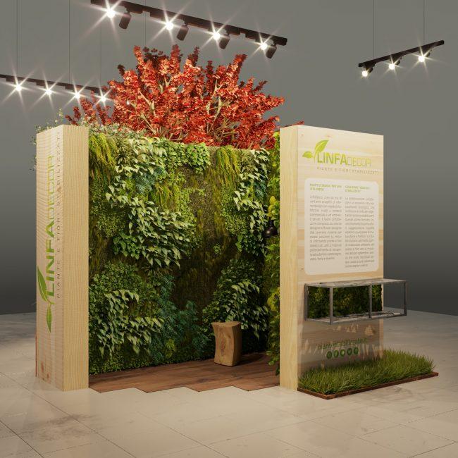 corner espositivo per piante stabilizzate