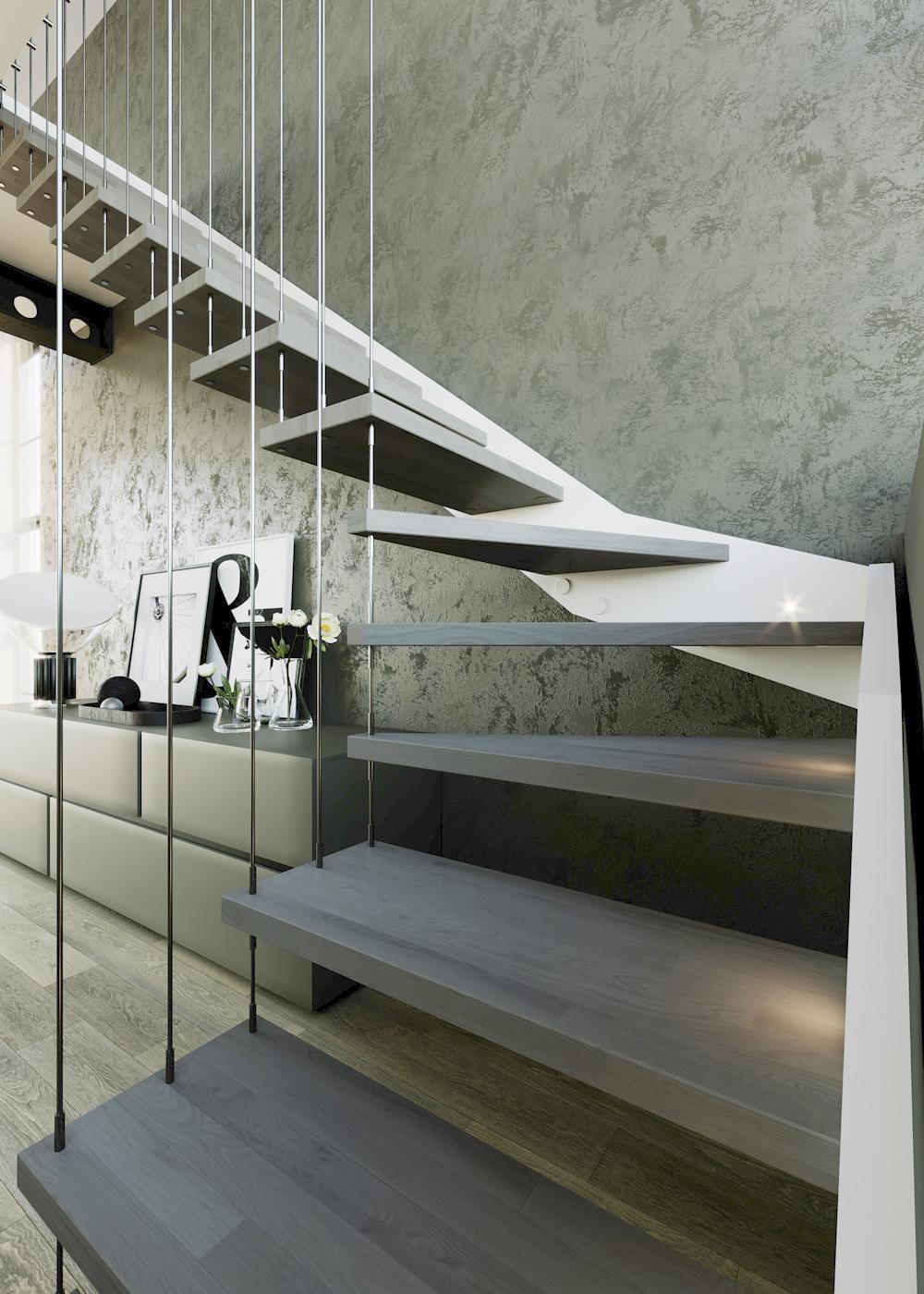 dettaglio render scale per interni