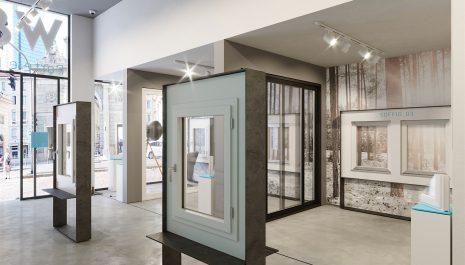 Progettazione showroom porte e finestre