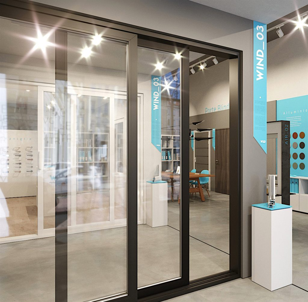 uno showroom di porte e finestre funzionale