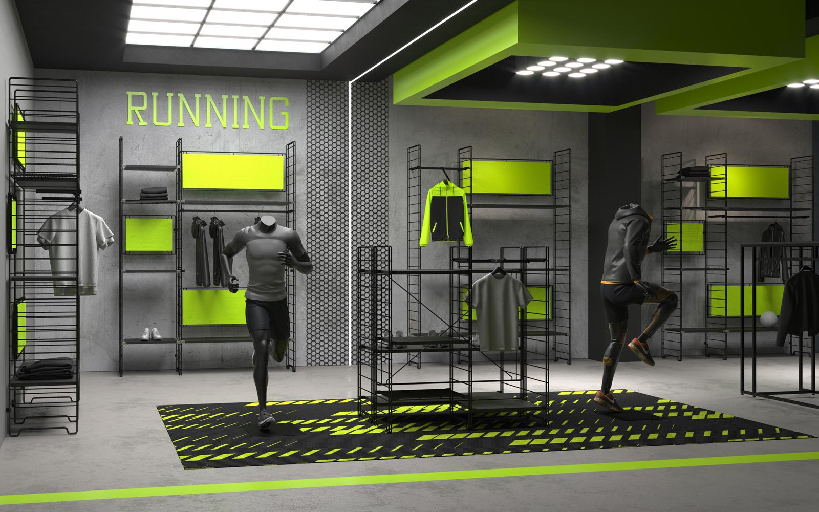 progettazione di negozi sportivi