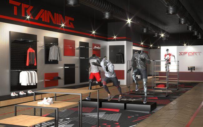 Progettazione di negozi per articoli sportivi