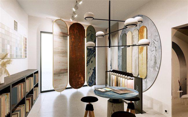 Progettazione showroom pitture decorative